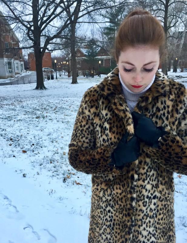 Cheetah Coat Close Up